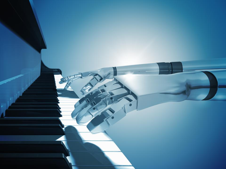 A.I.  which is playing piano