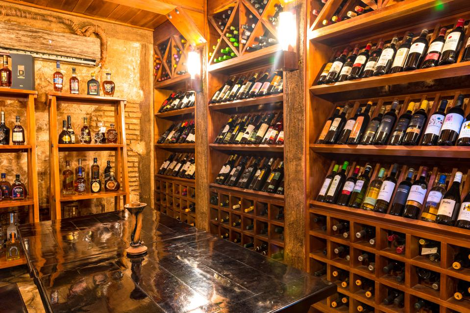 Wine cellar (Cava is Spanish) at the 'Tavern of the 7 Juanes...