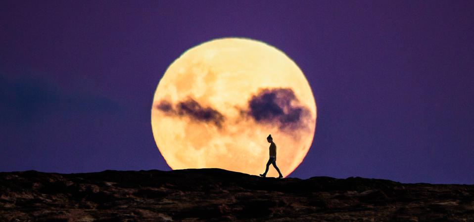 The ″Super Flower Blood Moon″ will appear slightly bigger than usual″, but what you'll really notice is that it will be brighter.