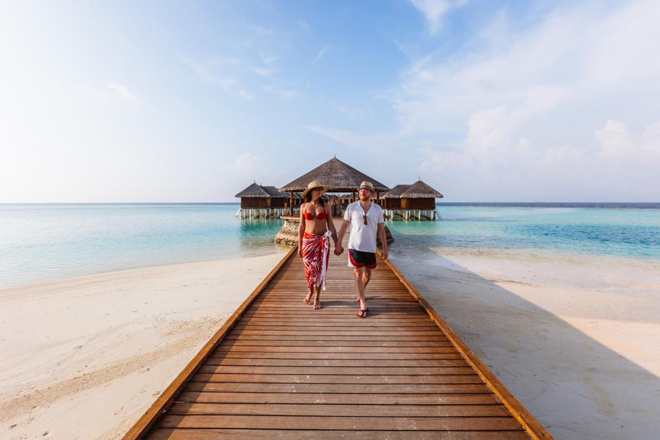 Tourists in the Maldives