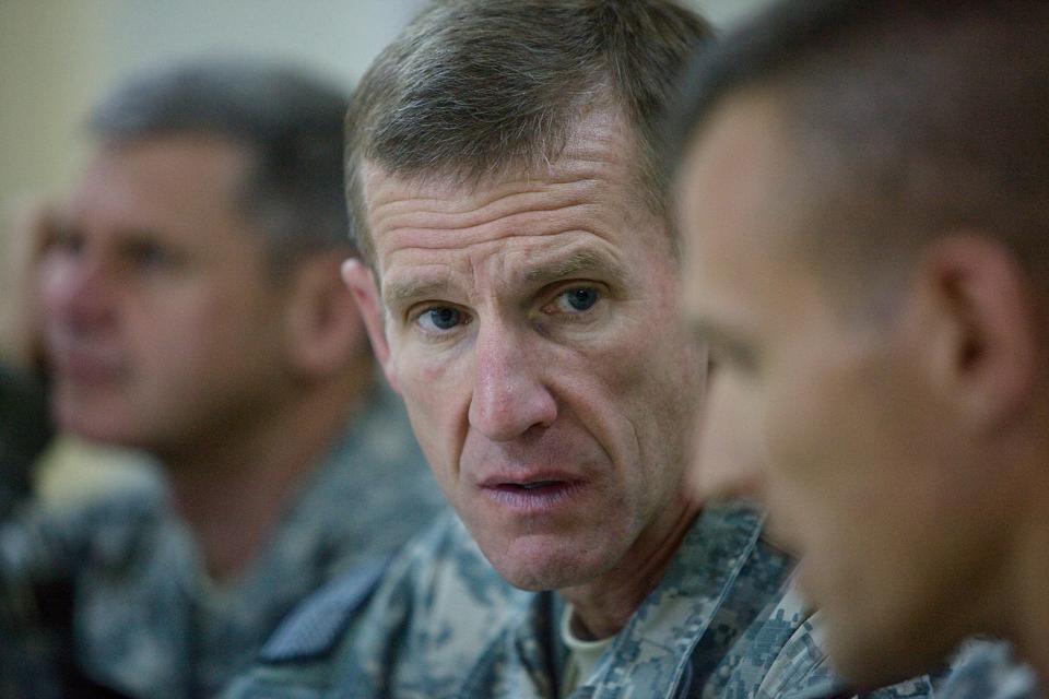 General McChrystal Travels To Kandahar