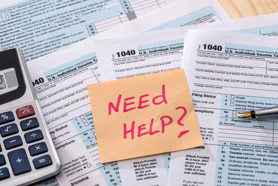 money calculation Form 1040 tax return