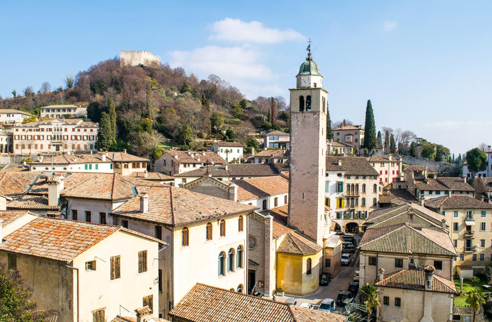 Panorama of the village of Asolo