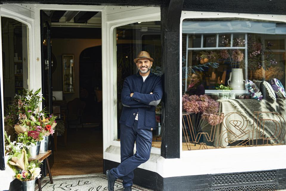 Portrait of owner in boutique