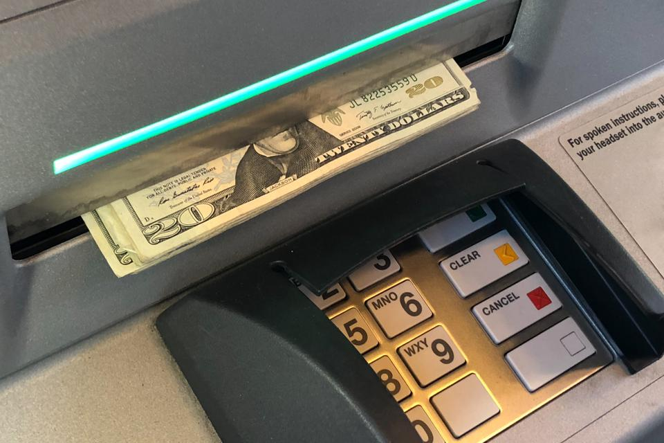 Taking cash (US dollars) from an ATM