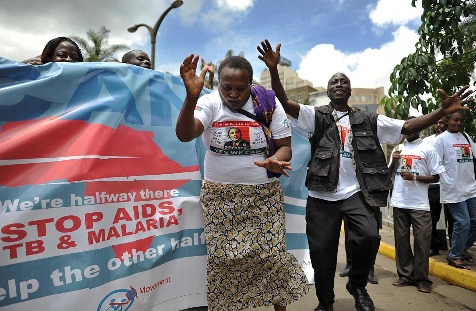 Kenyans hold a procession on November 4,