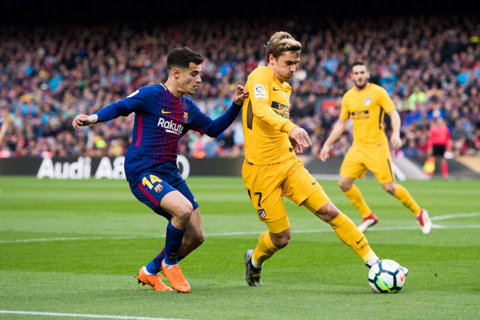 Rivaldo has compared Philippe Coutinho and Antoine Griezmann at FC Barcelona