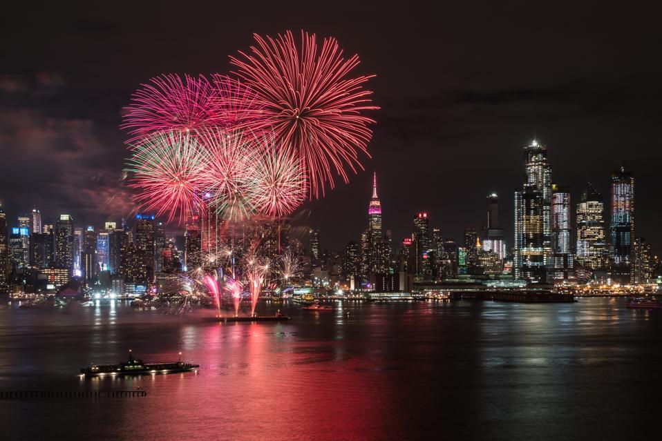 Lunar New Year fireworks in New York City