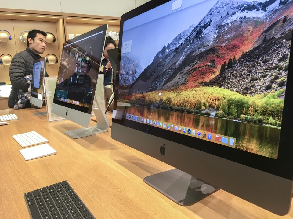 An iMac pro shown in an Apple store. The iMac pro, issued at...