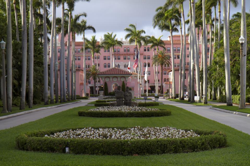 Boca Raton Resort and Club entrance.