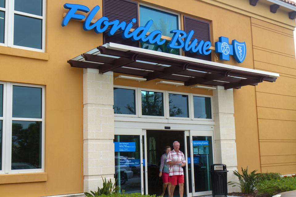 The entrance to Florida Blue Cross Shield.
