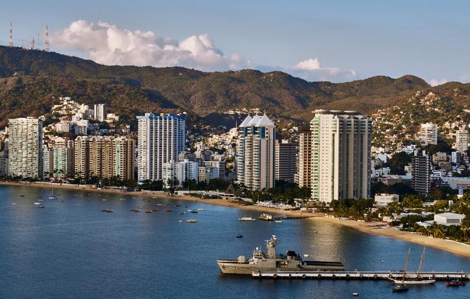 America. Mexico. Guerrero. Acapulco City. Zona Dorada. View From Las Brisas