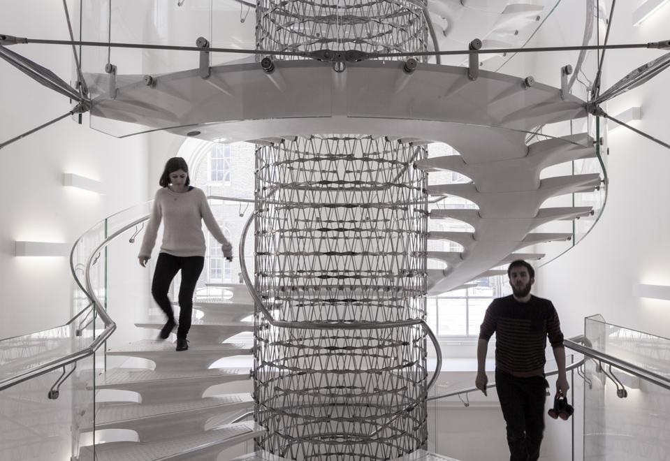 Staircase in Somerset House, London, United Kingdom. Architect: Eva Jiricna Architects Ltd, 2014.