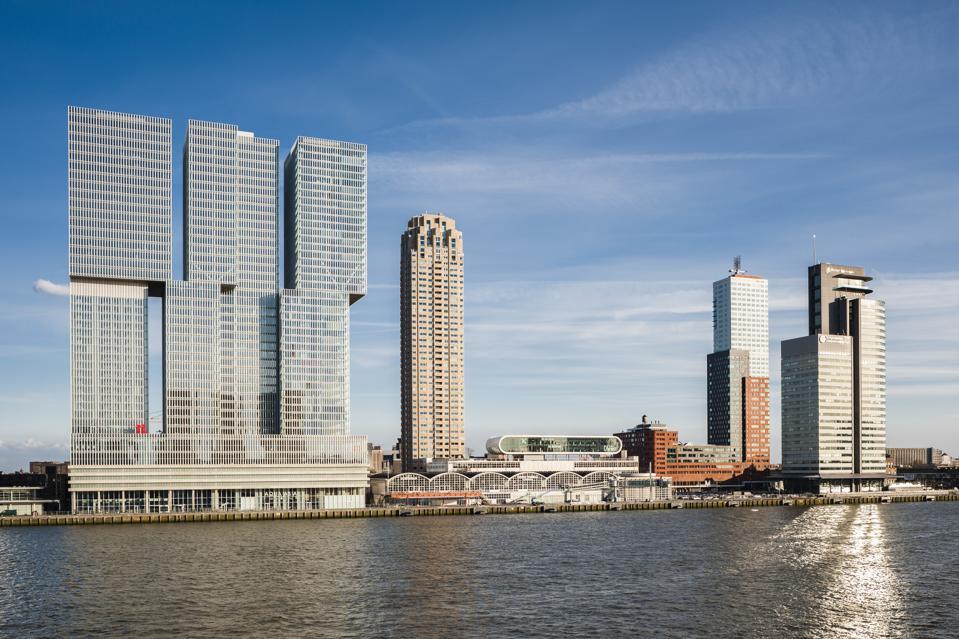 De Rotterdam Vertical City, Rotterdam, Netherlands. Architect: OMA Rem Koolhaas, 2013.