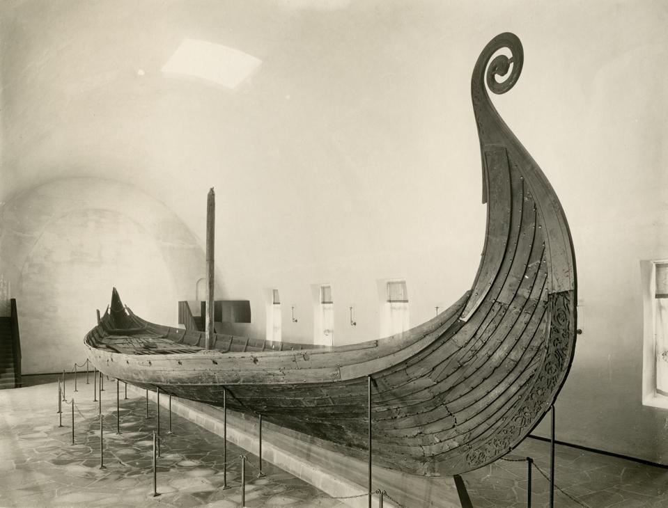 The Oseberg Viking ship, Viking Ship Museum in Oslo, Norway