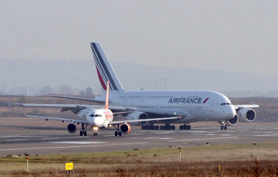 An Air France A380, the world's largest