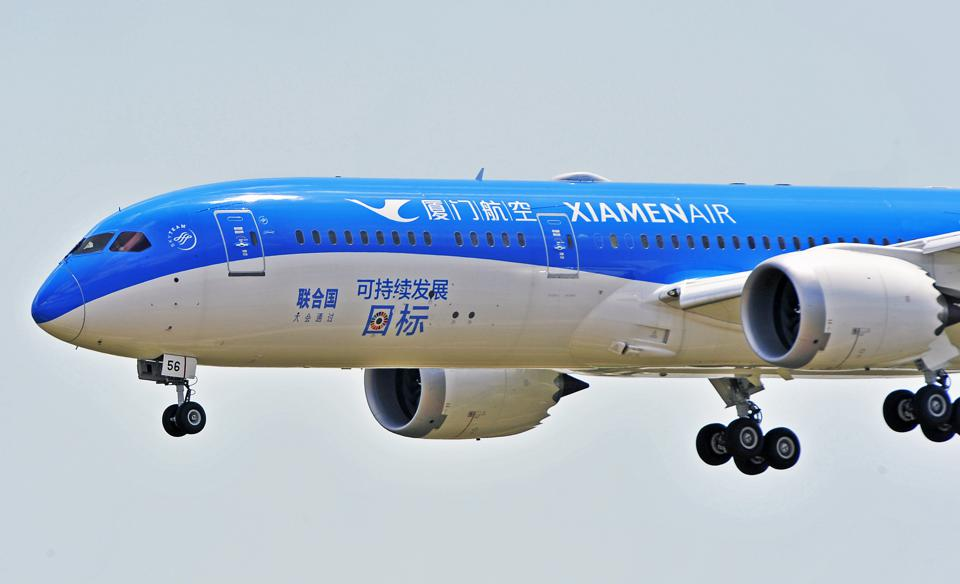 Boeing 787-9 Dreamliner Arrives In Fuzhou
