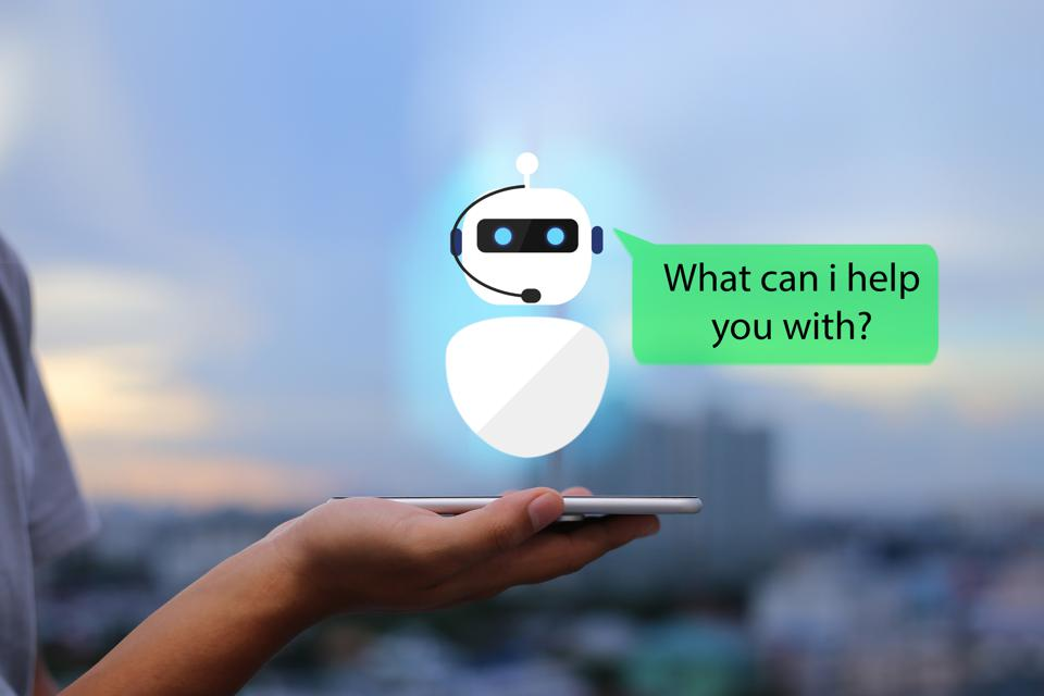 artificial intelligence,AI chat bot concept.