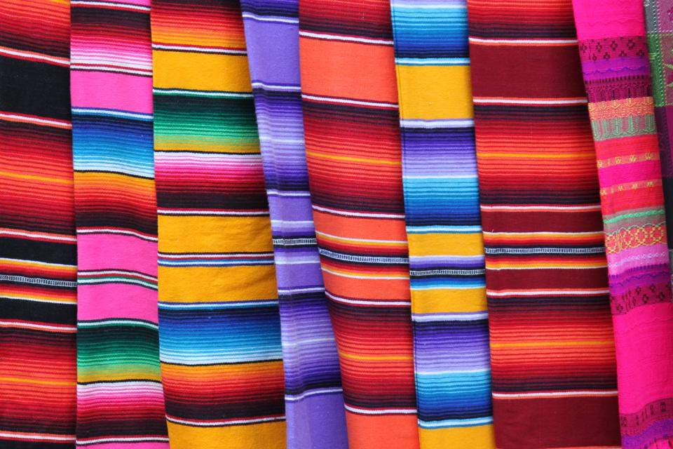 Full Frame Shot Of Colorful Textiles For Sale In Market