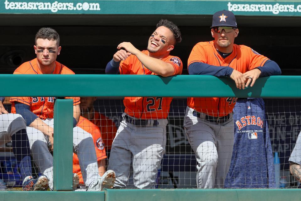 MLB: MAR 31 Astros at Rangers