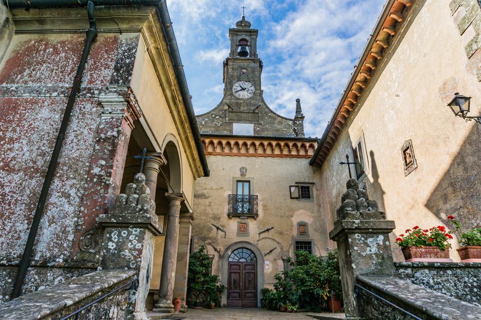 Monte Senario Servite monastery in the commune of Vaglia, near Florence in Tuscany