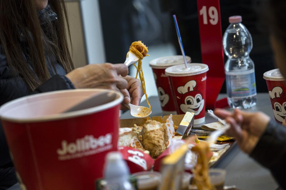 Jollibee is known for its signature fried chicken and spaghetti.