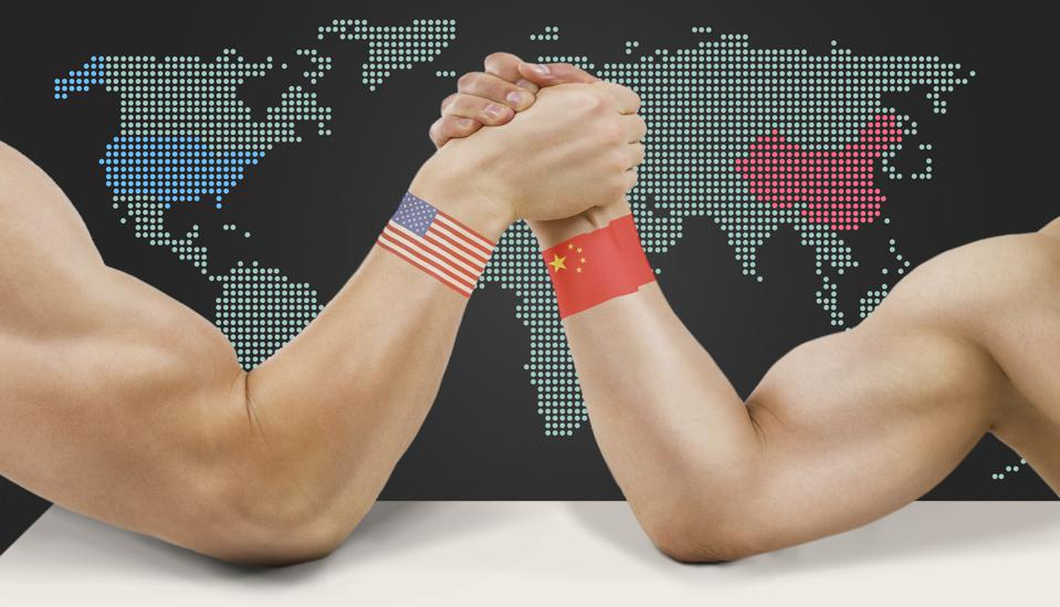 US and China grapple for global position.