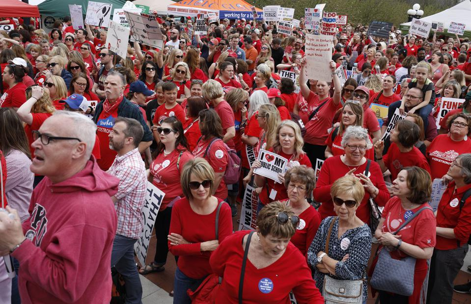 Kentucky Teachers March On State Capitol After Governor Signs Controversial Pension Reform Bill