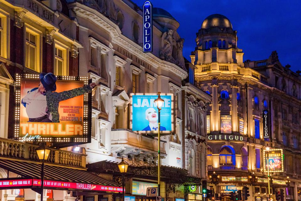 London Theatres at night