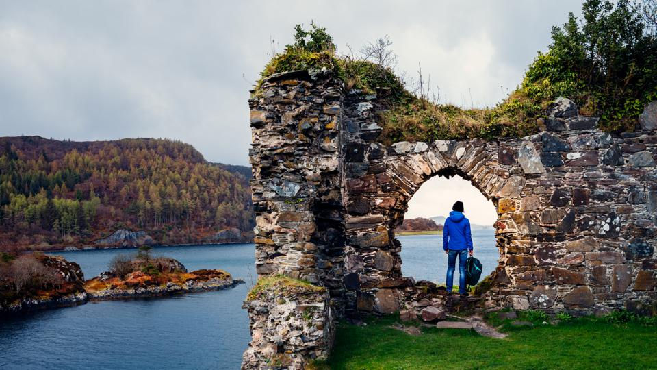 Ruins of Strome Castle, Loch Carron, Scotland