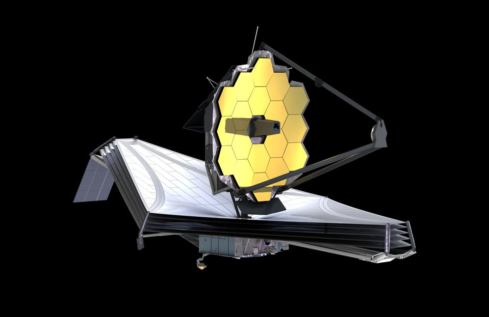 The James Webb Space Telescope (JWST or Webb) looks rather like a giant sunflower on a surfboard.
