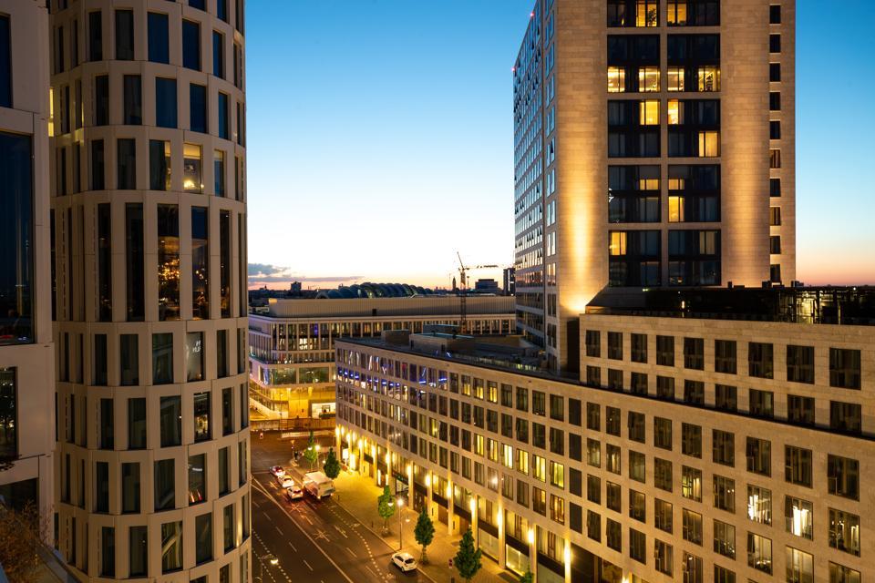 Berlin Illuminated Skyline