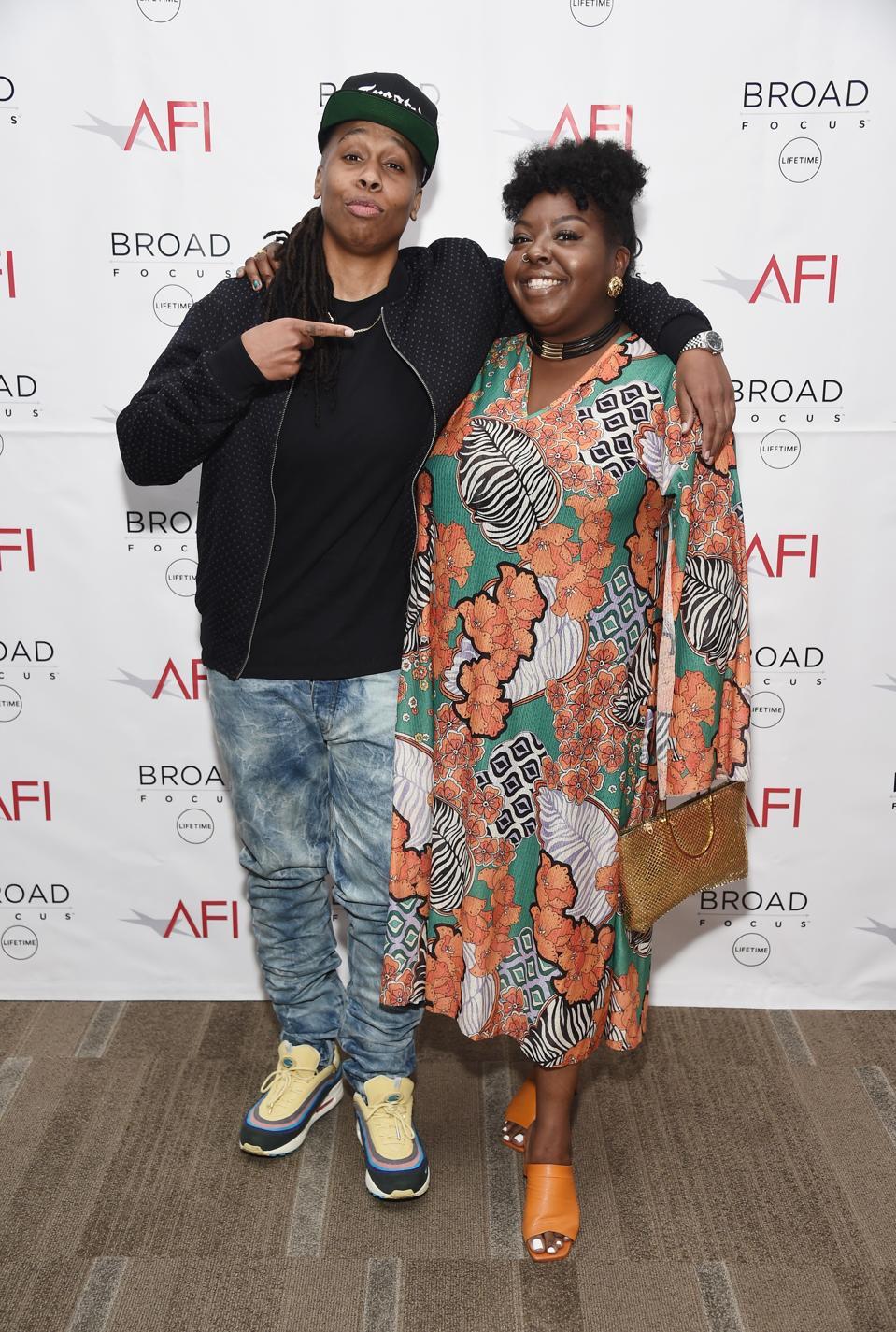 Writer and actress Lena Waithe (L) and filmmaker Tiffany Johnson