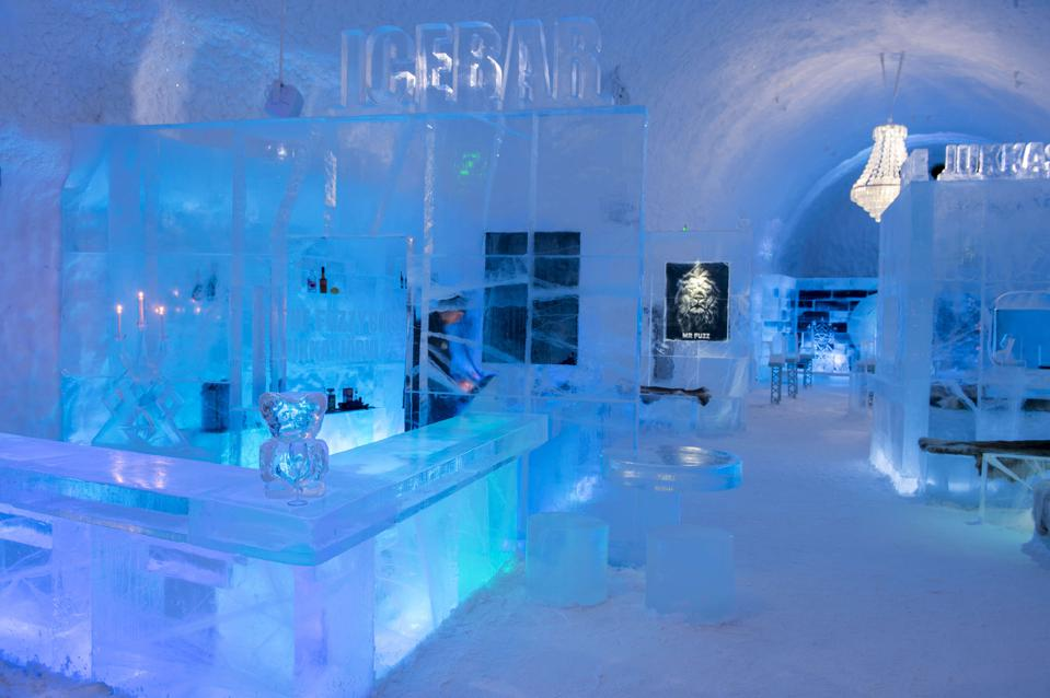 The Icebar at the ICEHOTEL 365 which was launched in 2016...
