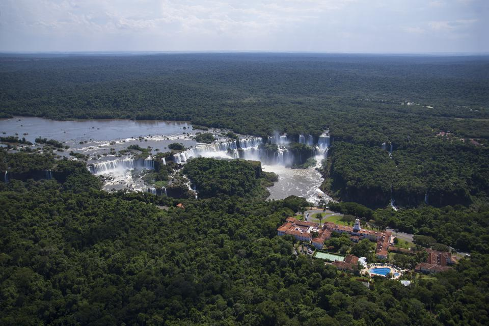 The Belmond Hotel das Cataratas at the Iguazu Falls on the border of Argentina and Brazil