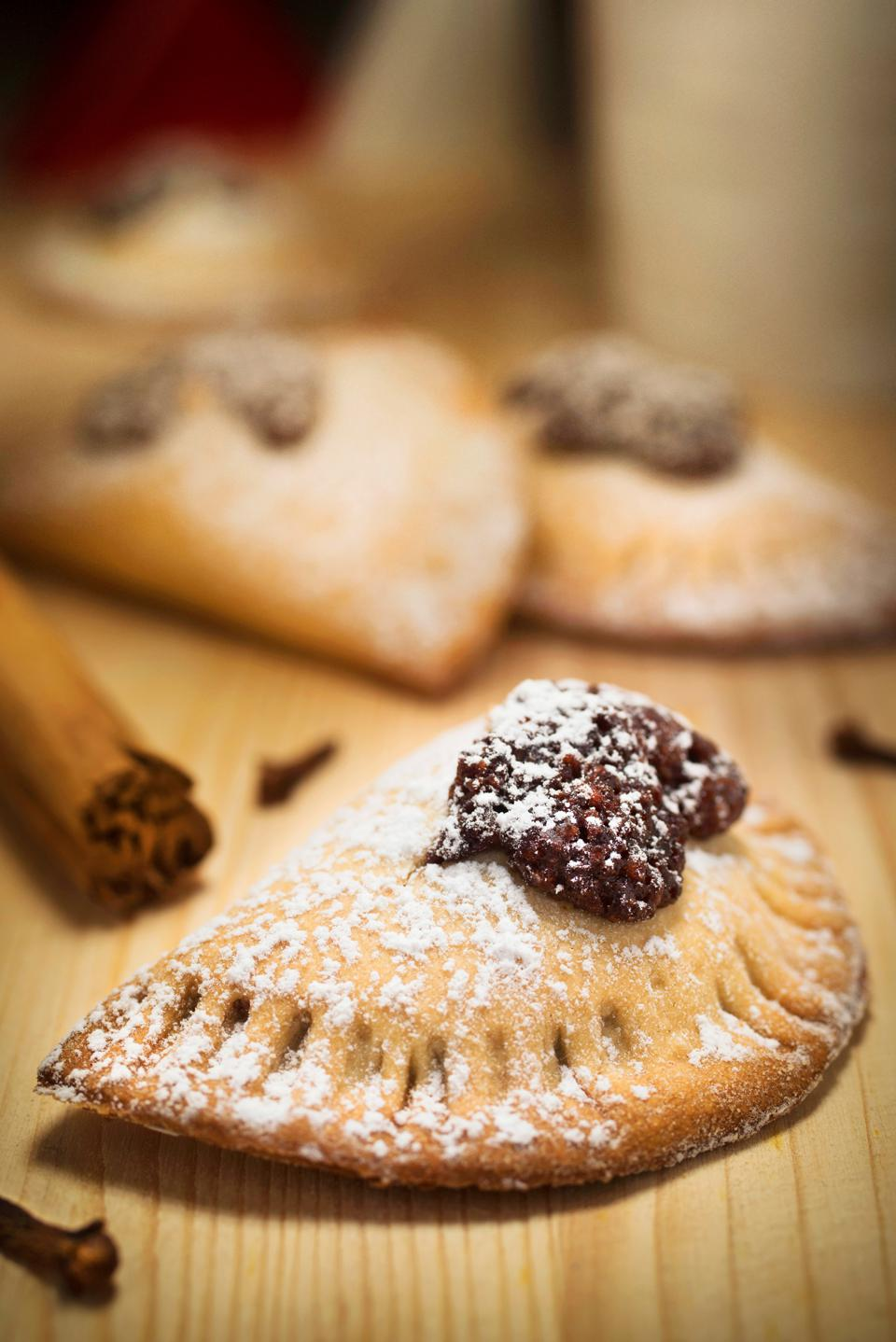 Mpanatigghi. Typical Sweet of Modica in Sicily Mpanatigghi. Typical Sweet of Modica in Sicily. (Photo by: Rosario Scalia/REDA&CO/Universal Images Group via Getty Images)