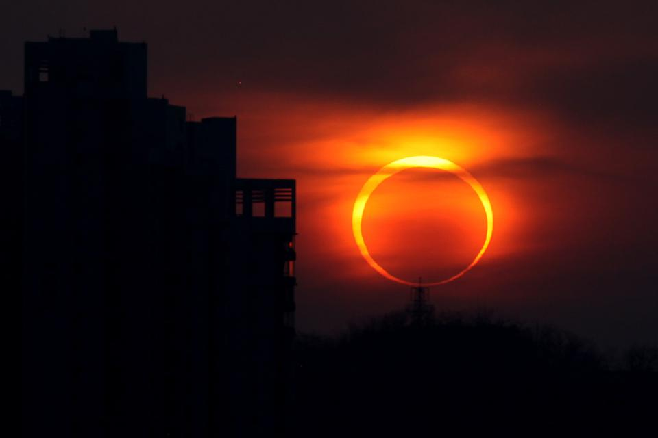 Solar Eclipse Observed in Asia