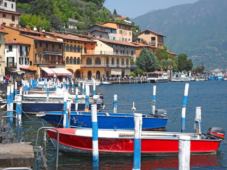 The pier of the village on the island of Monte Isola
