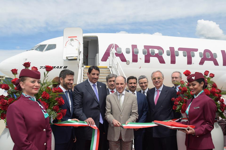 Air Italy's Boeing 737 Max Unveiling In Malpensa