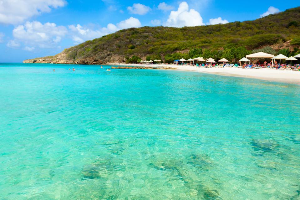 Curacao beautiful caribbean sea beach Porto Marie