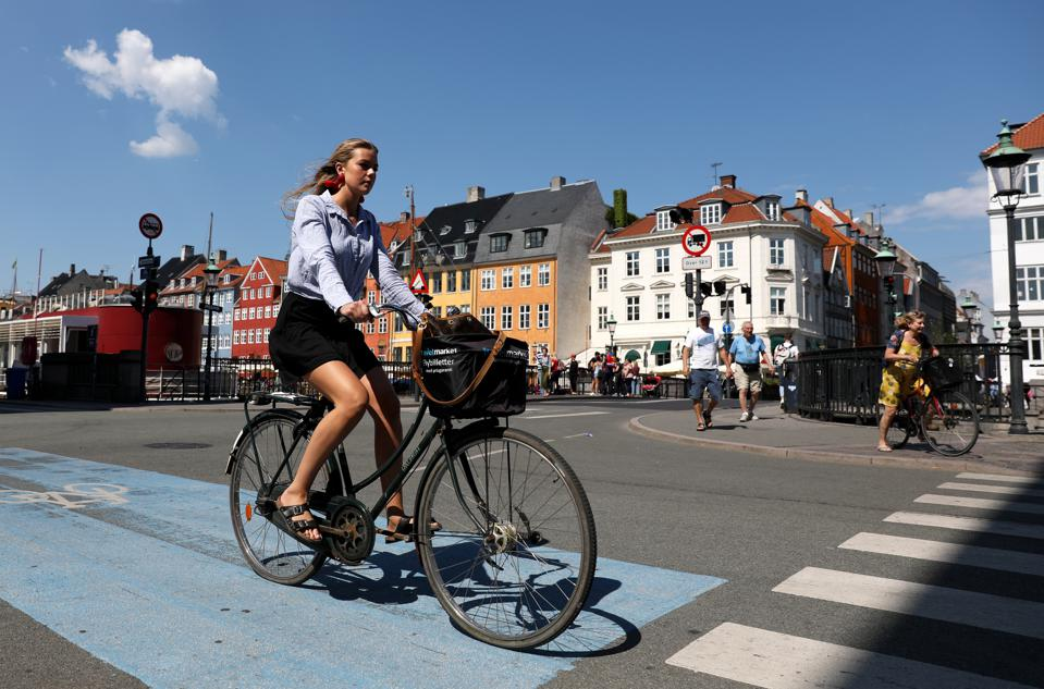 Bicycles are already a popular mode of transport in Copenhagen, Denmark.