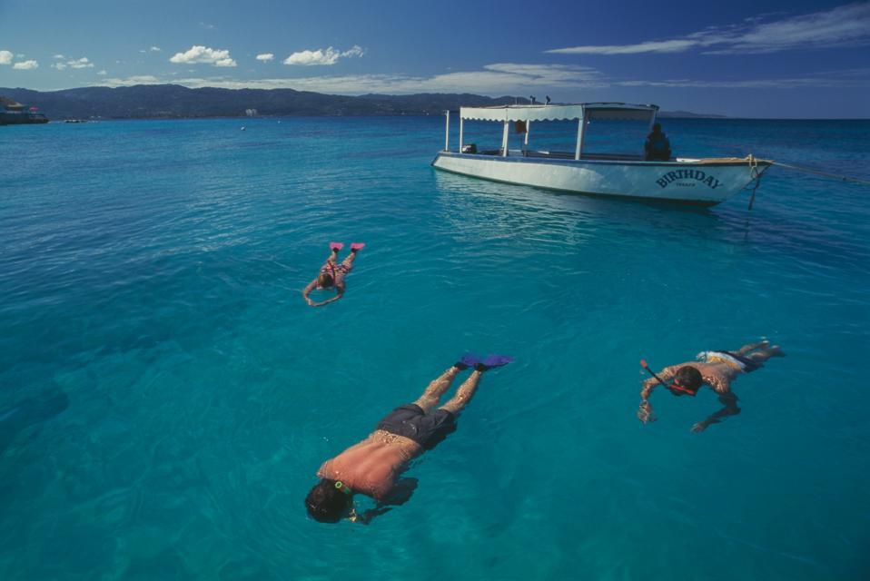 Snorkeling in waters of Navy Island, Port Antonio