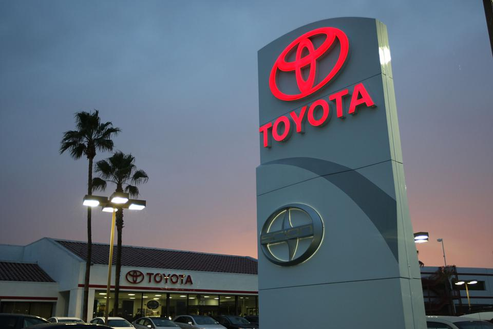 Toyota sales fall in May.