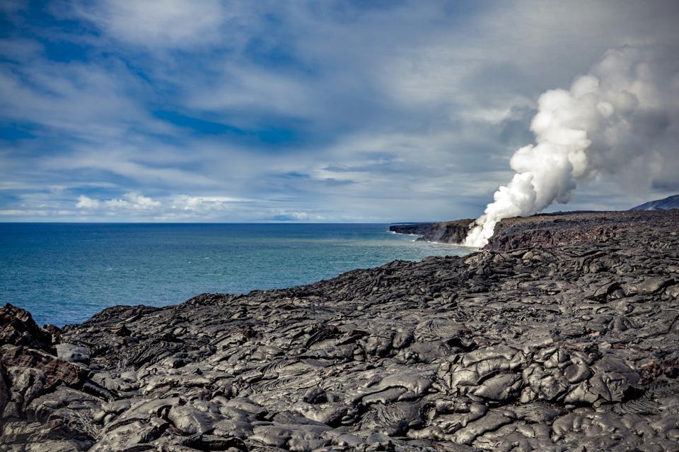 Kilauea Volcano. lava flow, Hawaii