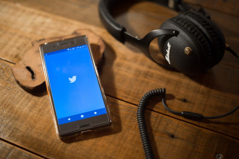 The Twitter application seen display on a Android Sony