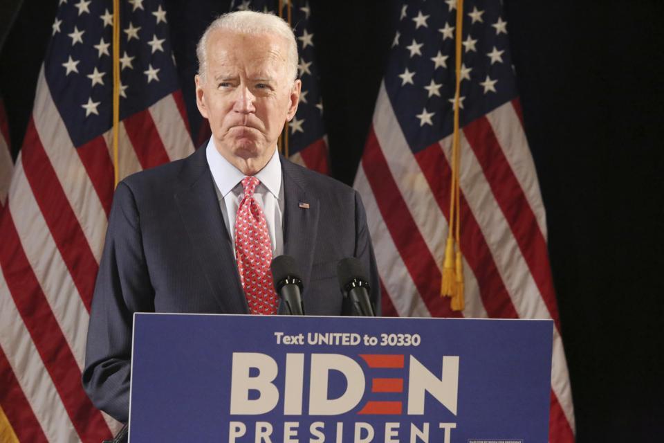 Joe Biden Addresses The Media On The Coronavirus