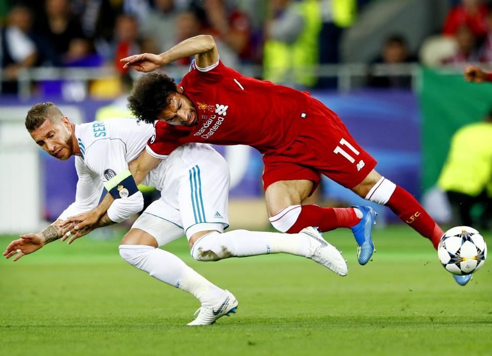 Champions League Final Salah Ramos