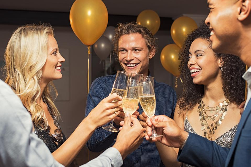 Toast your friends this New Year's Eve, but skip the resolutions.