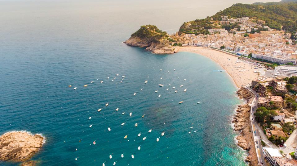 Tossa de Mar Costa Brava shoreline Spain