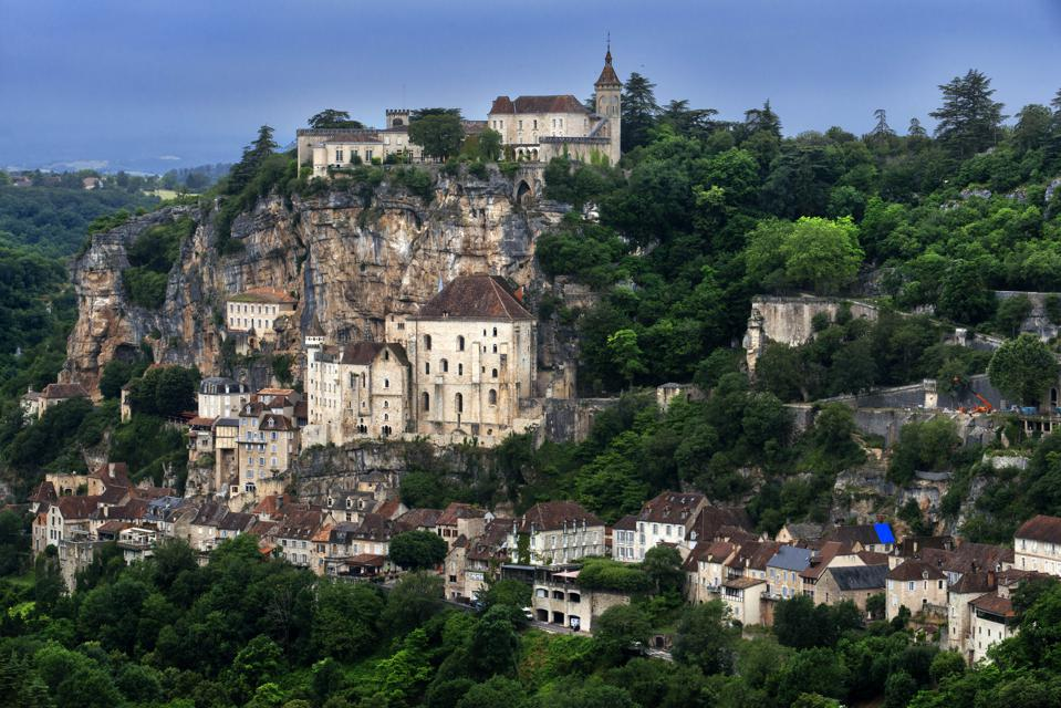 View over Medieval town of Rocamadour.
